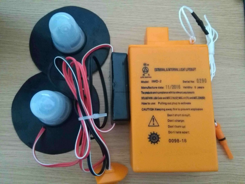Bateria balsas salvavidas SOLAS IMO 2